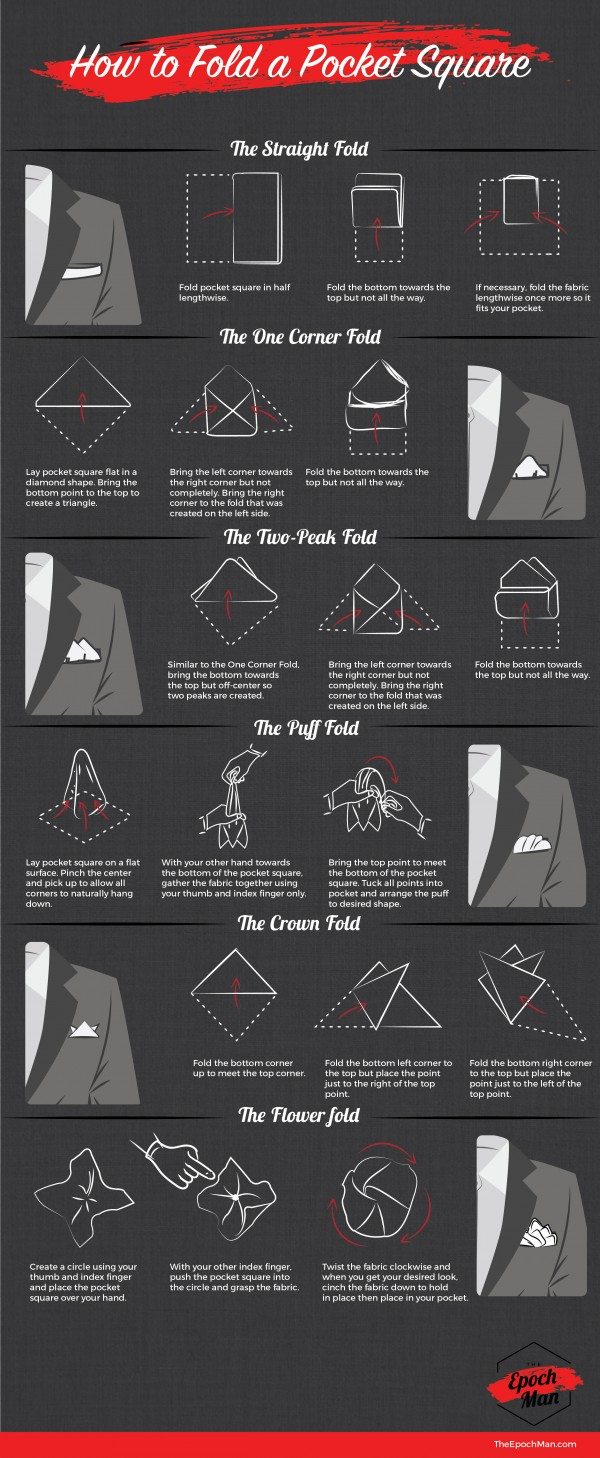 How To Fold A Pocket Square The Gentleman S Guide To Style